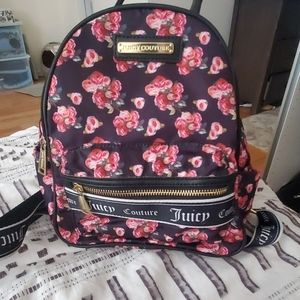 Floral juicy couture mini back pack